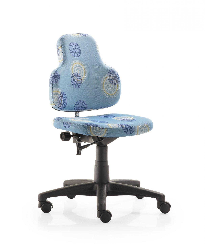 Bild Schreibtischstuhl Hellblau Kreise