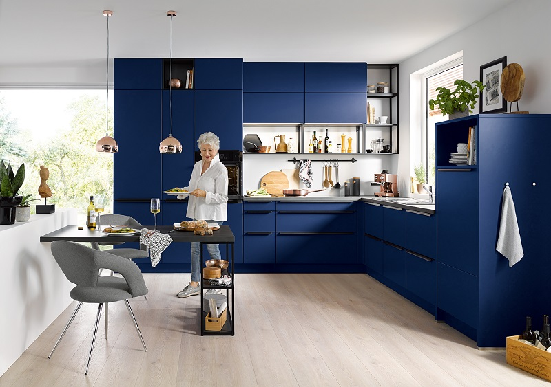 blue kitchen design k 252 che in l form cranz amp sch 228 fer 1732