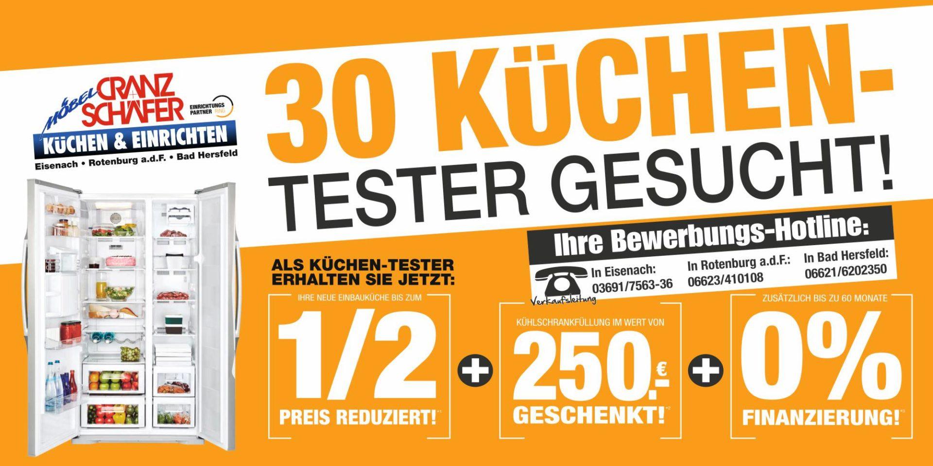 Aufgepasst: 30 Küchen Tester Gesucht! Die Ersten 30 Küchen Käufer Erhalten  Ihre Neugeplante Küche Garantiert Bis Zum 1/2 Preis.