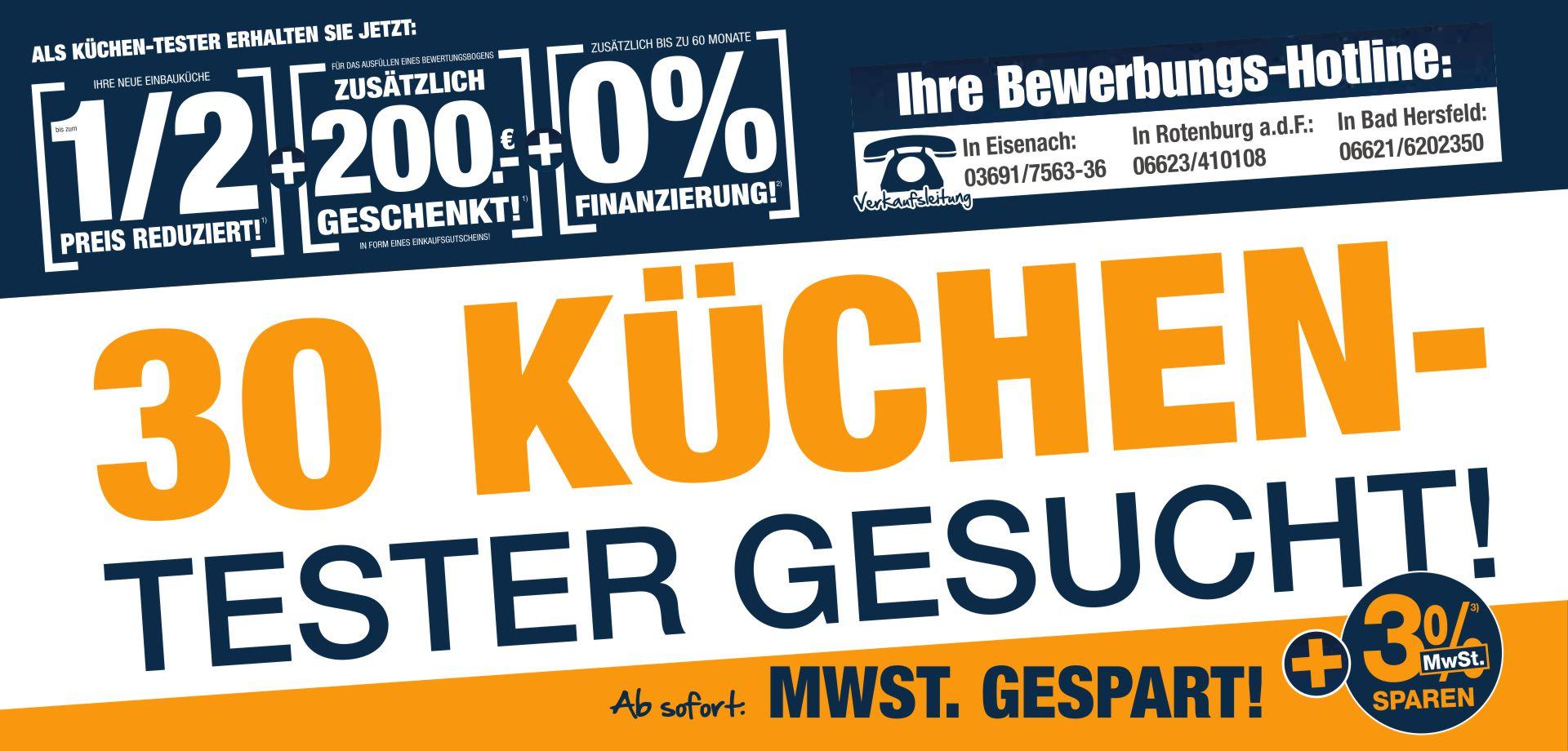 Küchentester  Möbel und Küchen von Möbel Cranz + Schäfer - Eisenach